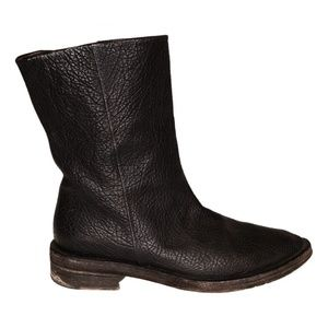 MARSELL BLACK LEATHER BOOTS (39 EU/ 8 US)